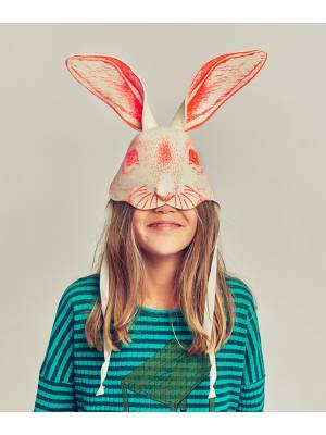 Máscara conejo naranja