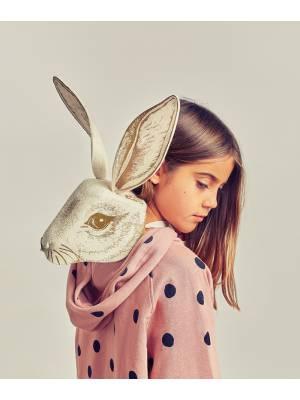 Máscara conejo dorado