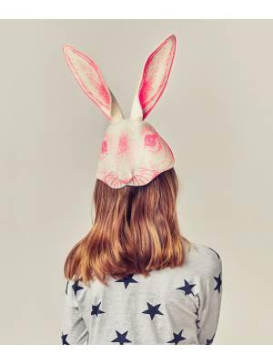 Máscara conejo rosa