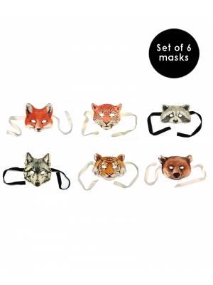 Animal Masks. Set of 6
